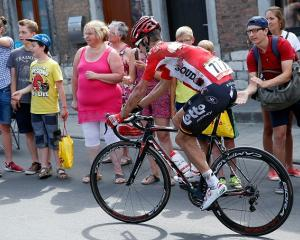 Greg Henderson continued riding after crashing during the third stage but the injuries he...