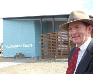 High Country Medical Trust chairman Simon Williamson at the opening of the Twizel Medical Centre...