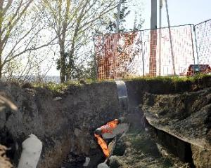 High-voltage cables near Mosgiel are being repaired, after damage caused by a volunteer...