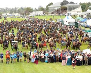 Hundreds of walkers, riders and wagoners converged on the Oamaru race-course on Saturday for the...
