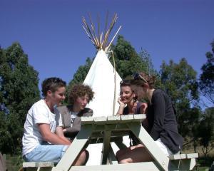 Innovators (from left) Scott Godsall (Waitaki Boys' High School), Ryan Algar (St Kevin's College)...