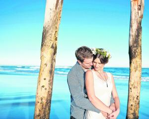 James and Brooke Simpson, who were married in Dunedin in March. REBECCA MCSKIMMING PHOTOGRAPHY.