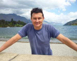 Jason Shon Bennett relaxes in Queenstown during his recent speaking tour of the South. Photo by...