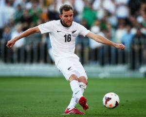 Jeremy Brockie scored a late consolation goal for the All Whites. Photo Getty