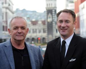 Jetstar's New Zealand head Grant Kerr (left) and and flying operations manager Richard Falkner in...