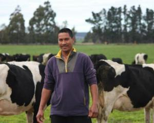 Joseph Alegado has worked for Duntroon dairy farmers Geoff and Jan Keeling for the past four...
