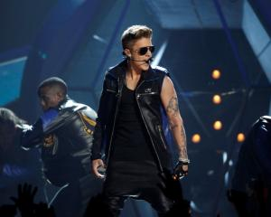 Justin Bieber performs during the Billboard Music Awards at the MGM Grand Garden Arena in Las...