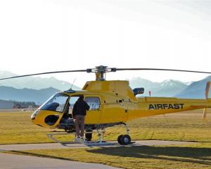 Kershaw Aviation Company's new Eurocopter AS 350 B3e, the first of its kind to arrive in New...