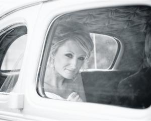 Kristy South on the way to her wedding. She marrieed Chris Chilman at Lookout Lodge, Wanaka, in...