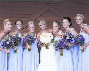 Kristy South with her bridesmaids. She married Chris Chilman in February at Lookout Lodge. Photo...