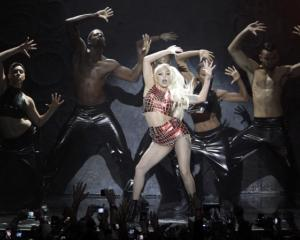 Lady Gaga performs at the MTV Europe Music Awards show in Belfast in November. REUTERS/Cathal...