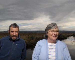 Lake Waihola Waipori Wetlands Society president David Vollweiler and secretary Pauline Baker at...