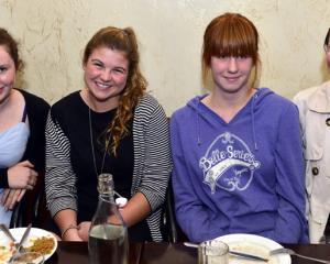 Lifeguards Tarn Neuman (17) Charlotte Ibbotson (20) Rebecca McNaughton (14) and Pru Casey.
