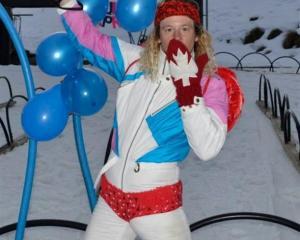 Lift senior Jack Haughey (27), of Scunthorpe, England, sporting a formidable ski ensemble. Photo...