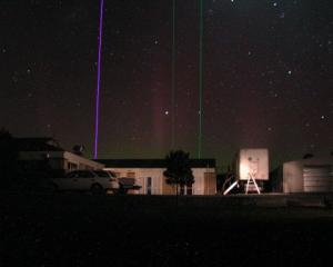 Light Detection and Ranging (Lidar) beams from Lauder probe the night sky. These Lidar systems...