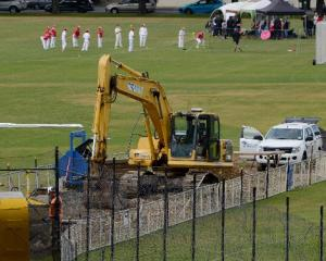 Contractors continue work on a wastewater pipe upgrade at Logan Park, as some of the South Island...