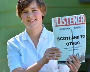 Logan Park High School pupil Frances Barnett with her prize-winning historic research on the...