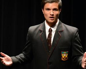 "Logan Park High School pupil Jacobi Kohu-Morris gives the winning speech, titled ""Poverty and..."