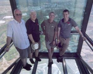 Long-time racing mates (from left) Dene Mackenzie, Rex Martin, Stephen Gray and Nevan Trotter on...
