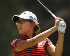 Lydia Ko plays a shot during today's fourth round of the Australian Open at The Victoria Golf...