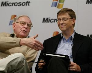 Mega rich, and in these cases generous. Warren Buffett, Berkshire Hathaway CEO, and Microsoft...