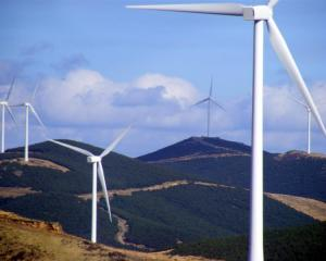 Meridian Energy's White Hill wind farm near Mossburn in northern Southland, one of seven such...