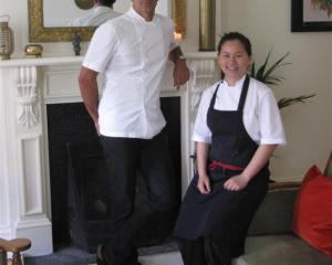 Michelin star chef and Masterchef New Zealand judge Josh Emett with Madam Woo chef Jane Leong at...