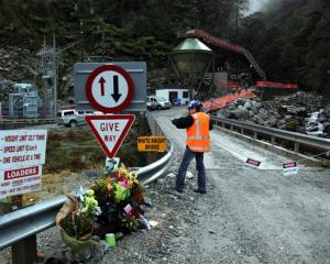Mines Rescue enter the Pike River Mine for the first time since the mine explosions. Photo by...