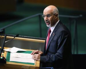 Mohamed al-Magariaf addresses the UN General Assembly in New York in September last year. (Photo...
