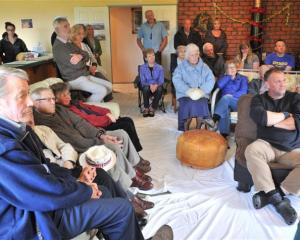 More than 30 people attended the meeting on Saturday to discuss the Saddle Hill quarry. Photo by...