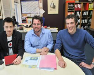 New members of the Yellow-eyed Penguin Trust (from left) Jesse James, Nigel Stirling and Luke...