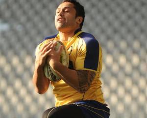 New Otago representative Ben Atiga catches the ball during Otago team training at the Forsyth...