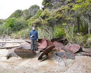 New Zealand Historic Places Trust Otago-Southland regional archaeologist Dr Matthew Schmidt...