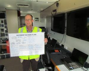 North Otago Search and Rescue chairman Tony Wood shows off the organisation's new mobile command...