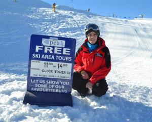 NZSki Coronet Peak host Luke Evans says he enjoys meeting a variety of people in his job. Photo...