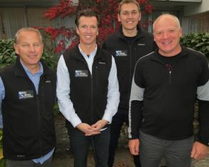 NZSki leaders (from left) the Remarkables ski area manager Ross Lawrence, chief executive James...