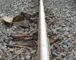 One-third of the sleepers on a 16.5km stretch of main-line track between Clinton and Balclutha...