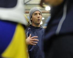 Otago Boys' High School First XV coach Ryan Martin, at training at the Edgar Centre this week....