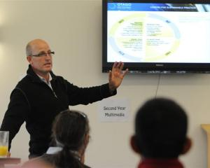Otago Polytechnic Centre for Sustainable Practice manager Steve Henry, of Wanaka, addresses an...