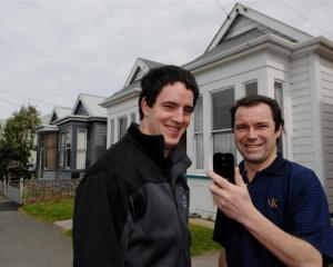Otago Polytechnic information technology students Matt Bradley (left) and Gary MacLachlan have...