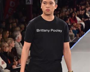 Otago Polytechnic student and iD Dunedin  T-shirt model Paolo ''Kimpoy'' Feliciano (23) on the...