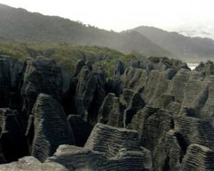 Pancake Rocks, Punakaiki, one of the images from <i>In Search of Ancient New Zealand.</i>