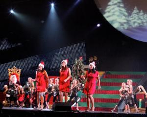 Pictured during the 2011 performance are (from left) Tiffany Mitchell, Rebecca Barnes and Anita...