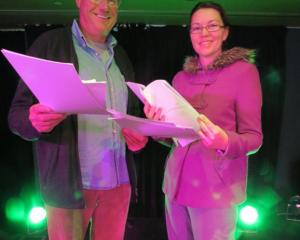 Pint-Size Plays co-ordinator David Cantwell and Victoria Keating, both of Remarkable Theatre, run...