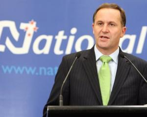 Prime Minister elect John Key at his first press conference following the election. Photo by NZPA