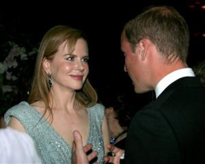 Prince William speaks with actress Nicole Kidman at the inaugural 'BAFTA Brits to Watch' event at...