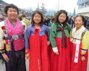 Pupils (from left) Alex Oh (12), Rubbica Jung (13), Dain Hong (13) and Jeeyeon Han (12).
