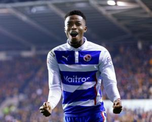 Reading's Nathaniel Chalobah celebrates his team's third goal against Bradford. Reuters / Eddie...