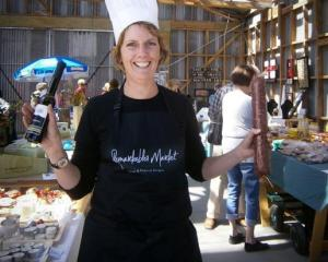 Remarkables Market manager Sherryn Smith prepares to launch the market's new Chef Competition,...