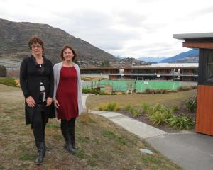 Remarkables Primary School board of trustees chairwoman Fiona Woodham (left) and principal Debbie...
